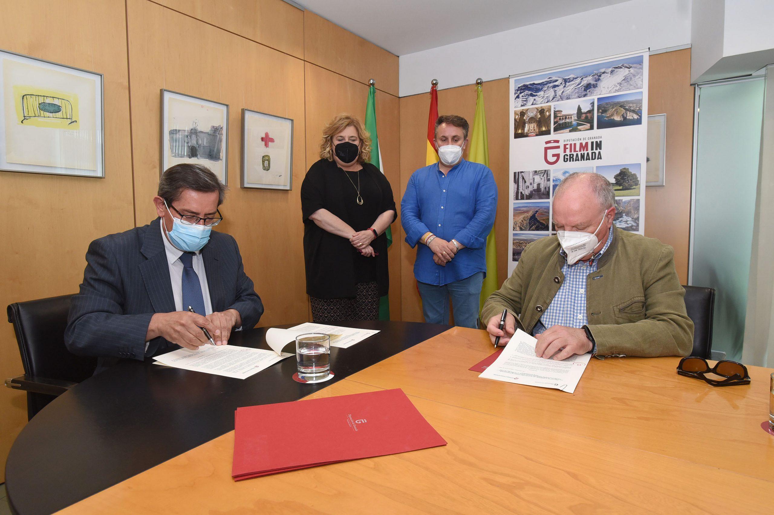 Diputación llega a un acuerdo con la Federación de Hostelería para facilitar los rodajes en la provincia